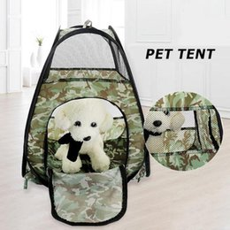 $enCountryForm.capitalKeyWord Australia - Portable Folding Pet Tent Dog House Cage Large Space Camouflage Cats Dogs Tent Playpen Puppy Kennel Outdoor Supplies