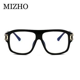33891439b3 MIZHO 2019 Festival New Oversized Glasses Frame Men Transparent Trendy Eyewear  Frame Women Vintage UV400 Oculos de sol Feminino
