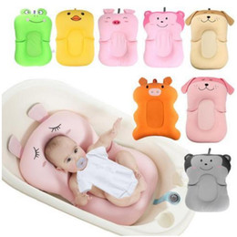 shower seats NZ - Babies Portable Air Cushion Bed Baby Shower Infant Baby Bath Pad Non-Slip Bathtub Mat NewBorn Safety Security Bath Seat