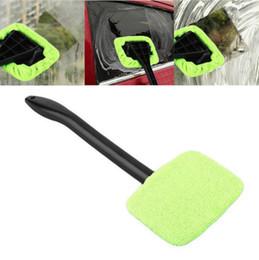 Wholesale Car Windows Australia - Auto Window Cleaner Windshield Windscreen Microfiber Car Wash Brush Long Handle Car Care Glass Towel Car Cleaning Tool 3 Colors YW1839