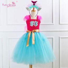 $enCountryForm.capitalKeyWord Australia - New Mermaid girls dresses kids dresses tutu princess dress+headband 2pcs kids designer clothes girls beach dress girls clothes A6289