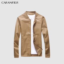 Punk Motorcycle Jacket Australia - Caranfier Mens Leather Jackets Pu Faux Spring Fall Thin Coats Biker Punk Motorcycle Male Classic Jacket Stand Collar Zippers C19041701