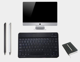 Thin mini lapTop online shopping - 9 Inch Cell Phone Keyboard Mobile Phone Laptop Tablet IPad Systems General Keyboard Ultra thin Mini Bluetooth Wireless Keyboard DH