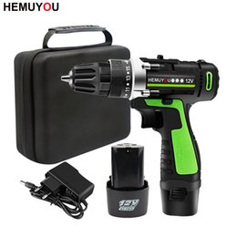 rechargeable screwdrivers Australia - 12V 16.8V Adjust speed Home Cordless Power Tools Electric Screwdriver Multi-Function Lithium-Ion Rechargeable Electric Drill Y200321