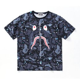 t shirt flashing light 2019 - Summer new camouflage starry night light round neck T-shirt youth casual loose short sleeve mens designer t shirts t shi