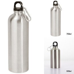 cap pressing Australia - 1pc Water Bottle Silver 201 Stainless Steel 500 750ml Capacity High Quality Sports WATER BOTTLE + Leak Proof Cap For Home Travel