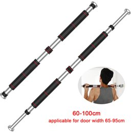 door pull up bar Australia - Door Horizontal Bars Steel Adjustable Home Gym Workout Chin Push Up Pull Up Training Bar Sport Fitness Sit-ups Equipment T200615