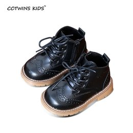 CCTWINS KIDS autumn baby boys oxford shoes for children dress boot girl  fashion martin boots toddler pu leather boots black C363 90c58e44e9bc