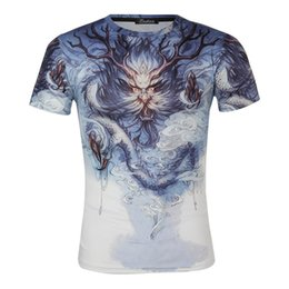$enCountryForm.capitalKeyWord Australia - 2019 T-shirts Short Sleeve T T-shirt Emperor Shield White Background The Chinese People Dragon King Thin Money Men's Wear 3 Digital Printing