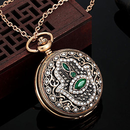 $enCountryForm.capitalKeyWord Australia - Cheap Chain Necklaces Blucome Fashion Watch Pendant Turkish Necklace Turkey Rhinestone Jewelry Vintage Necklaces & Pendants Women Neclaces