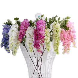 $enCountryForm.capitalKeyWord Australia - Artificial Hydrangea Wisteria Flower For DIY Simulation Wedding Arch Square Rattan Wall Hanging Basket Can Be Extension