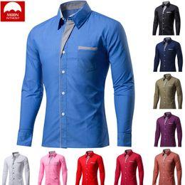 $enCountryForm.capitalKeyWord Australia - MOON 4XL New Fashion Men Camisa Masculina Long Sleeve Shirt Men Korean Slim Design Formal Casual Male Dress Shirt CS-024