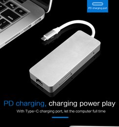 Ethernet Macbook Australia - Cabledeconn USB C HUB Thunderbolt 3 Dock Station USB3.1 Type C to HDMI USB 3.0 Ethernet RJ45 TF SD Adapter Cable for Macbook Pro 2017 2016