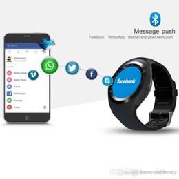 Bluetooth Smart Watch Sim Australia - Factory Wholesale free shipping Y1 smart watch 1.22 inch full round display 2G single nano sim camera bluetooth watch