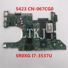 I7 Socket Australia - High quality For Inspiron 5423 Laptop motherboard CN-067CG0 067CG0 67CG0 11289-1 With SR0XG I7-3537U CPU 100% full Tested