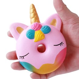 $enCountryForm.capitalKeyWord Australia - 12CM Big PU Donut Unicorn Jumbo Squishy Slow Rising Pink unicorn Doughnut Squeeze Fun Toy for Kids Vent Decompression Antistress Toys