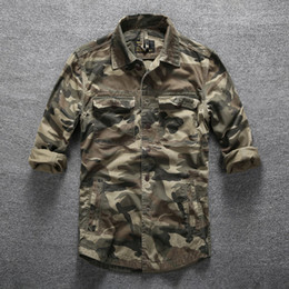 $enCountryForm.capitalKeyWord Australia - Mens Outdoor Hiking Climbing Sports Military Shirts Spring Autumn Cotton Camouflage Long Sleeve Breathable Multi-Pocket Tactical Shirt Men