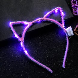 $enCountryForm.capitalKeyWord Australia - 1PC Led Ear Cat Shaped LED Headbands Party Light Up Flashing Blinking Party Headwear Christmas Hair Accessories Glow Party