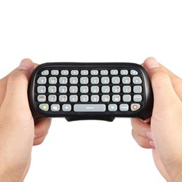 $enCountryForm.capitalKeyWord NZ - Portable Mini Wireless Controller Keyboard Game Messenger Keypad Chat Pad ForX-BOX 360 Computer Smart TV Web Player Black