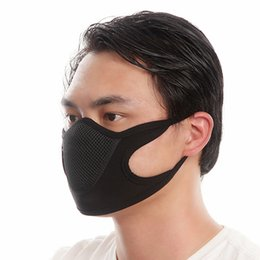 Discount dust mask pollution - Anti-pollution City Cycling Face Mask Mouth-Muffle Dust Mask Windproof Bike Bicycle Ski Snowboard Outdoor Masks Dust