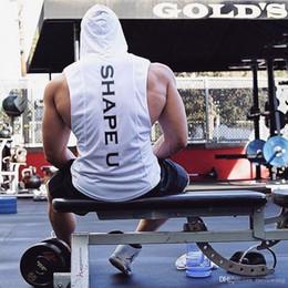 $enCountryForm.capitalKeyWord Australia - Brand Gyms Clothing Fitness Men Tank Top with hooded Mens Bodybuilding Stringers Tank Tops workout Singlet Sleeveless Shirt
