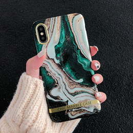 $enCountryForm.capitalKeyWord Australia - Fashion Artistic agate marble gold bar Phone Case For iphone XS XR XS Max 6 6S 7 8 Plus Glossy soft silicon case Back cover capa