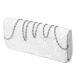 $enCountryForm.capitalKeyWord NZ - Bridal Wedding Lady Satin Evening Bags Lace Floral Day Pouch Clutches Women Messenger Shoulder Bag Purse Party Girl Handbags(W