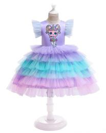$enCountryForm.capitalKeyWord UK - Surprise girl Embroideried fly sleeve baby girl cake layer skirts children tired tutu dresses New design girls princess party dress holidays