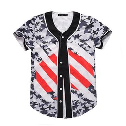 Wholesale baseballs cards online – design 2019 gym New D Digital Printed Short Sleeve Baseball Clothes Fancy European and American Spot Men s Cards Short Sleeves gym T shirt
