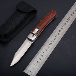 58 hrc knife Australia - New AUTO Automatic Knife Wood Handle Camping Hunting Survival knife Tactical Stainless Steel Blade Folding Pocket Knife 60 HRC EDC Wholesale
