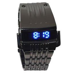Men Digital Wrist Watches Australia - Irisshine Z720 men watches Clock brand luxury gift Men Stainless Steel Mens Blue LED Digital Sport Quartz Wrist Watch