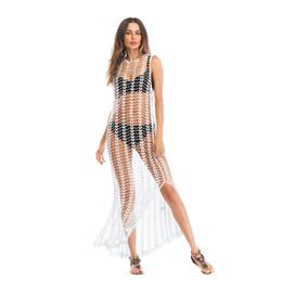 $enCountryForm.capitalKeyWord UK - Super Sexy Sun Protection Clothing Breathable Beach Long-sleeved Split Skirt Outdoor Vacation Designer Sun Protection Clothing Hot Sale