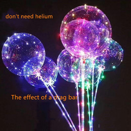 $enCountryForm.capitalKeyWord NZ - New Light Up Toys LED String Lights Flasher Lighting Balloon Wave Ball 18inch air can float Balloons Balloons Christmas Decoration Toys