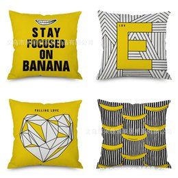 $enCountryForm.capitalKeyWord NZ - Heat Sell Yellow Geometry Pillow Automobile Sofa Back Cushion Cushion Bedside Backrest Pillow