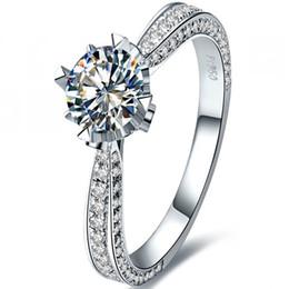 $enCountryForm.capitalKeyWord Australia - Accompanied 1CTW 6.5 mm Test Positive Moissanite Diamond Ring CHARLES & COLVARD WARRANTY Real 925 Sterling Silver Ring