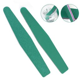 green nail files 2019 - 5Pcs Boat Green Nail File Professional Sanding Nail Files Buffering Nailfile Block UV Gel Salon Manicure Tools Supplier