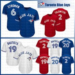 52e8cbee9fc Toronto Blue Baseball Jersey Jays 20 Josh Donaldson 2 19 Jose Bautista 6  Marcus Stroman 11 Kevin Pillar Alomar 29 Joe Carter