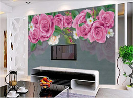 Weave Oil Australia - 3d room wallpaper custom photo non-woven mural Idyllic rose oil painting texture European minimalist background wall art canvas pictures