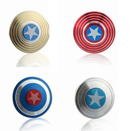 $enCountryForm.capitalKeyWord Australia - Creative Captain America Shield Finger Spinner Iron Man Fidget Alloy Puzzle Toys EDC Autism ADHD Finger Gyro Toy Adult Gifts