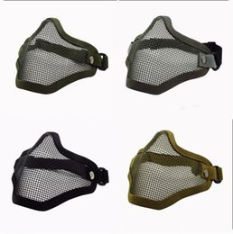 Hunting supplies online shopping - With Adjustable Elastic Strap Mesh Masks For Hunting Activities Supplies Durable Soft Half Face Mask High Quality js BB