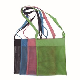 Fabric beach bag online shopping - Portable Beach Bag Kids Children Sand mesh Storage Beach Toy Baskets Storage Bag Baby Beach Shell toy Storage Bag KKA7117