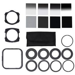 Venta al por mayor de Kit de filtro de Densidad Neutral Universal ND2 4 8 16 profesional para Cokin P Set SLR DSLR Lente de la cámara Cámara accesorios de fotos