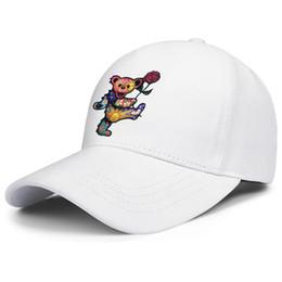 Cream Rose Hat NZ - Cheap Men Women Baseball cap grateful dead bear and rose fitted baseball hats Blank hats 100% Cotton