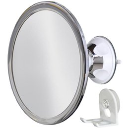 $enCountryForm.capitalKeyWord Australia - Electroplating Powerful Suction Cup Mirror 360 Degree Adjustable Rotation PC Anti-Fog Lens ABS Material Shaving Makeup Mirror BV