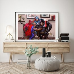 Figure Films Australia - Funny Superhero Marvel Film Wallpaper Art Canvas Poster Painting Wall Picture Print For Home For Living Bedroom Decoration