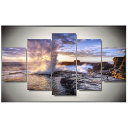 5d diamond UK - 5D Diy Diamond Painting Seaview Cross Stitch full square round 5pcs Mosaic Embroidery diamond pictures by numberZP-1286