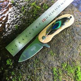 $enCountryForm.capitalKeyWord Australia - Mini Folding Pocket Knife Wood Handle Small EDC Key Chain Knife Promotional Gift Knives