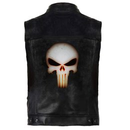 hip hop man leather jacket Australia - Hip Hop Outerwear Vests Leather PU Vest Men Leather Sleeveless Jackets Punk Rock Waistcoat HipHop Coats Harajuku Cool Streetwear