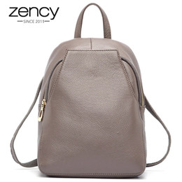 Style Backpacks Australia - Zency New Arrival Women Backpack 100% Genuine Leather Ladies Travel Bags Preppy Style Schoolbags For Girls Knapsack Holiday Y19051405