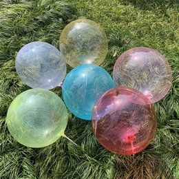 Wholesale 18inch Transparent Crystal BOBO Balloons Colorful Clear Inflatable Balls Marriage Wedding Birthday Party Favor Decor Supplies hot A41002